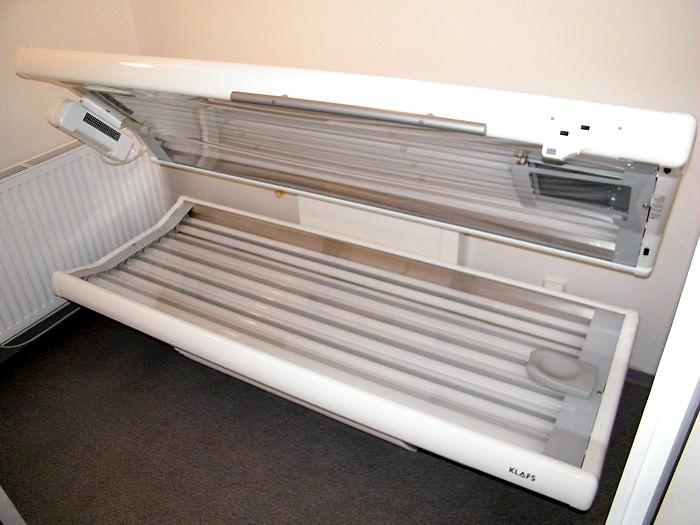 Solarium im Saunabereich – für alle Gäste nutzbar