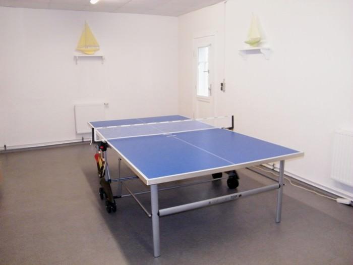Tischtennisplatte in der Villa Celia